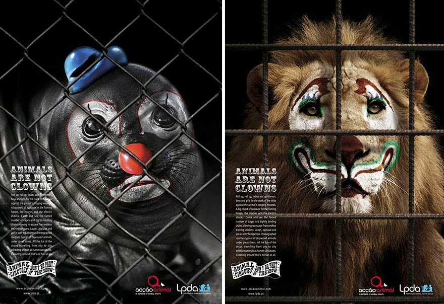 Animals Are Not Clowns - 33 Powerful Animal Ad Campaigns That Tell The Uncomfortable Truth