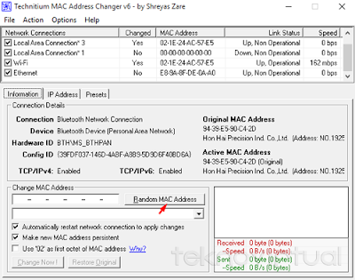 Tecnitium MAC Address Changer