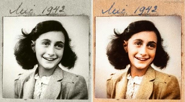 Anne Frank - manipulação digital - Sanna Dullaway