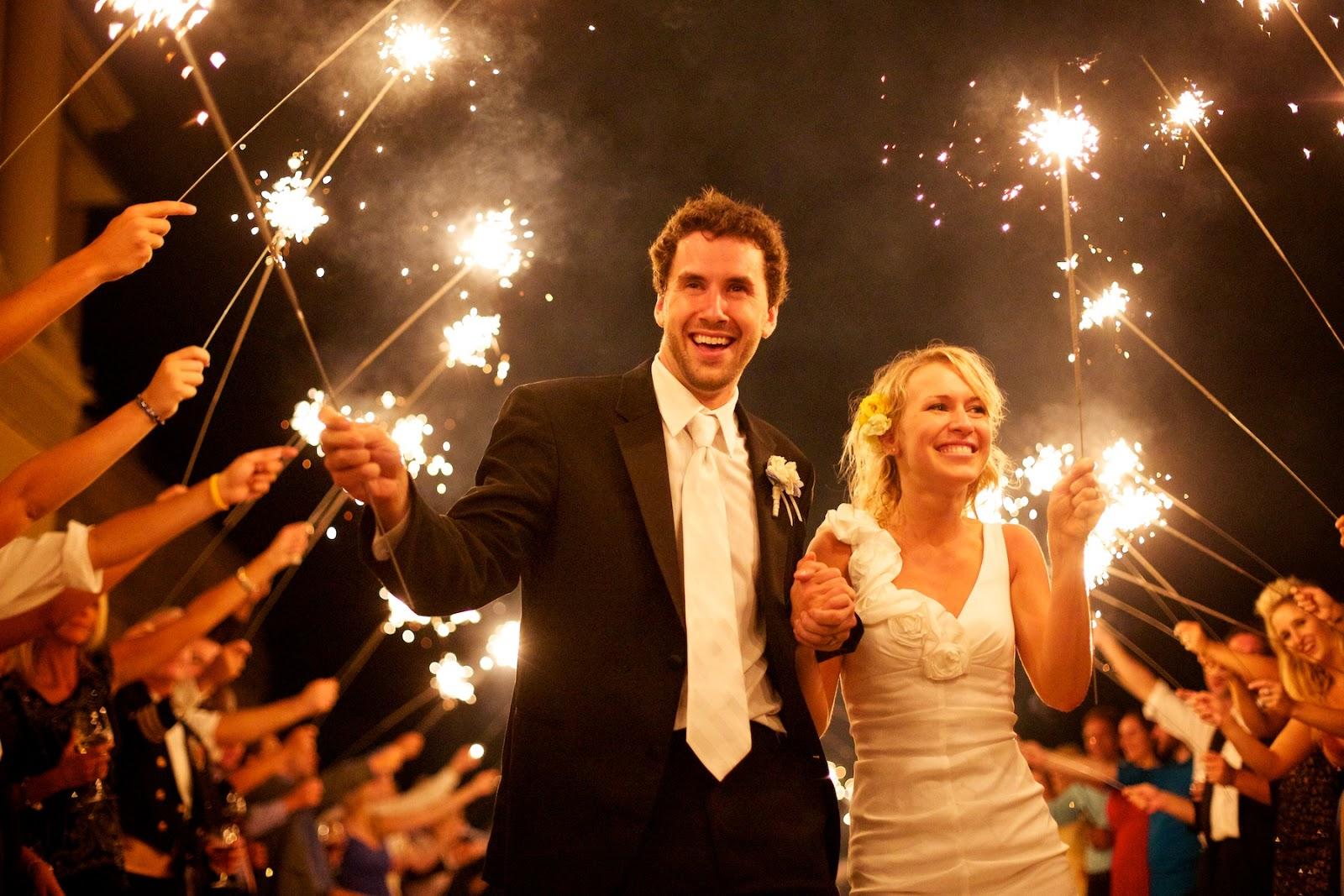 Best Size Sparklers for a Sendoff Line | Wedding Day Sparklers Blog