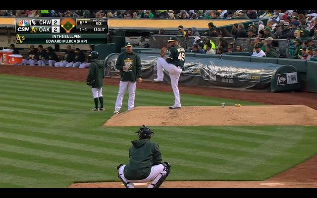 截圖自5/16的比賽,Mujica (Photo Credit: Comcast SportsNet California / MLB.TV)