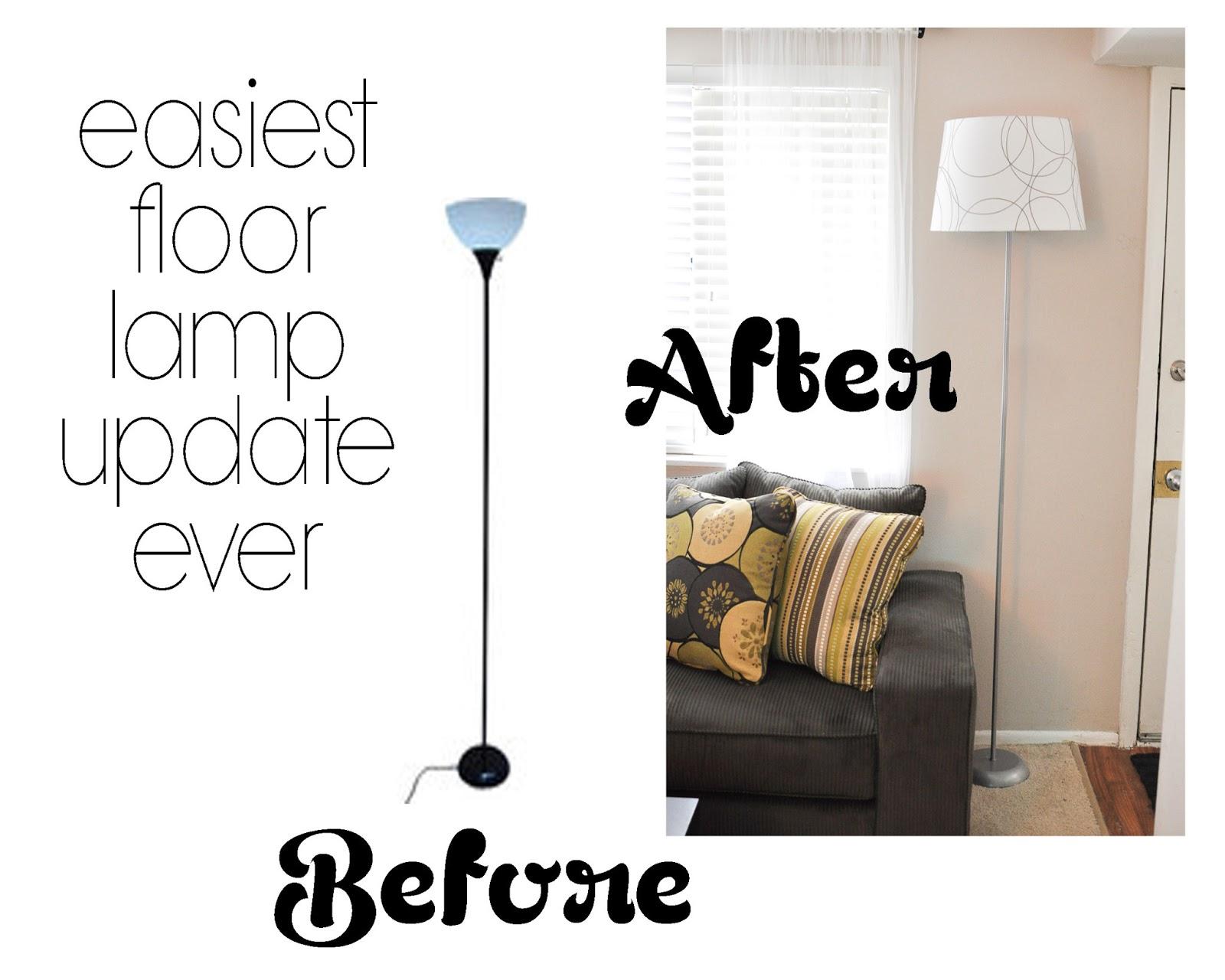 Decorating Through Dental School Easiest Floor Lamp