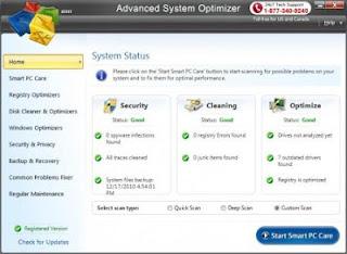 system optimizer, tweaking tools, junk file cleaner, memory optimizer, system information, system files backup, file encryption, safe uninstaller, duplicate file finder, SMTP server