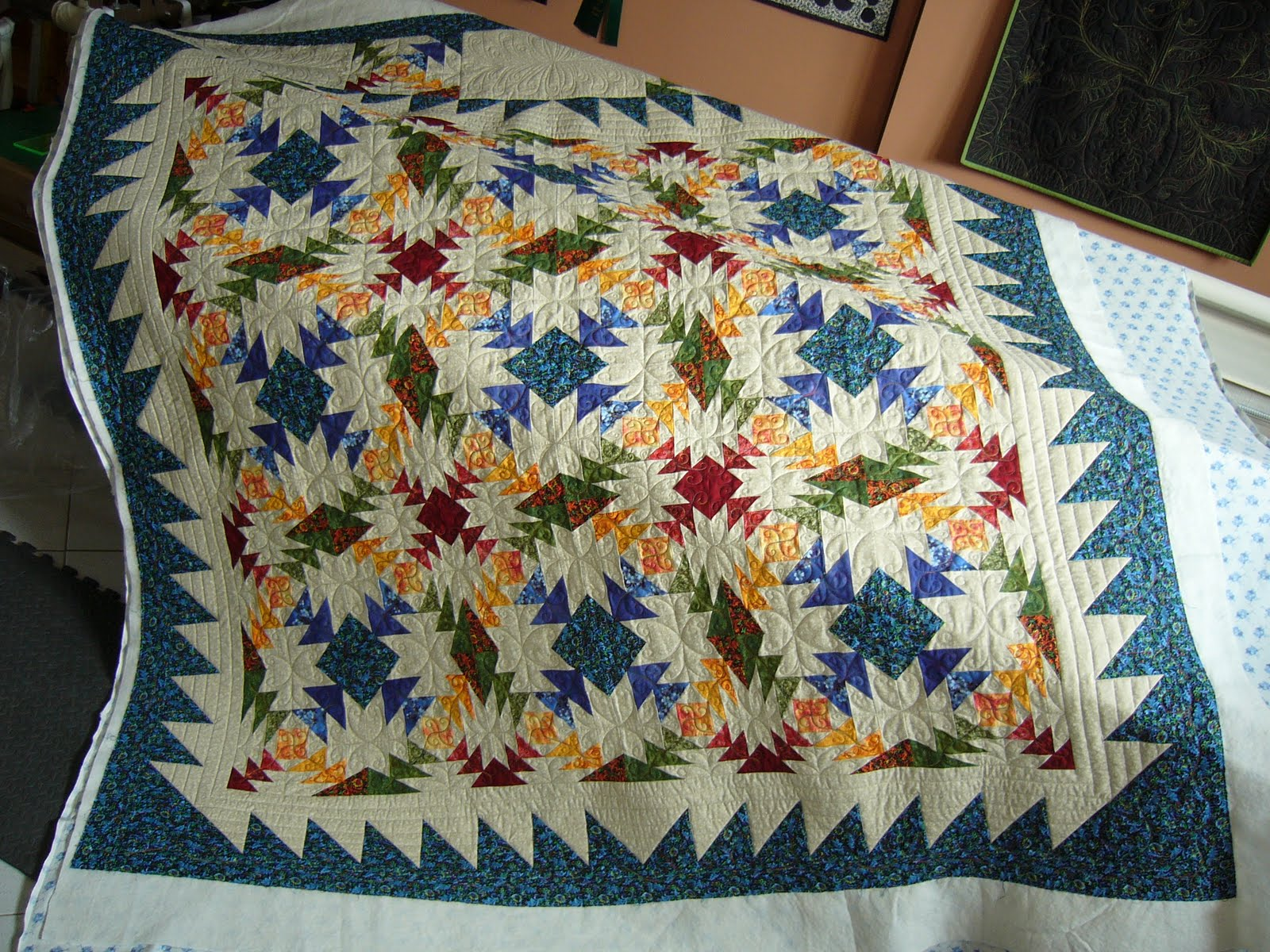 Caledonia Quilter Star Bouquet Quilt Pineapple Quilt