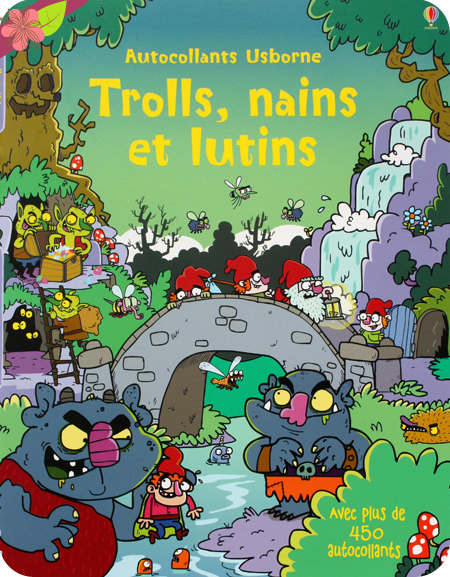 Autocollants Usborne : Trolls, nains et lutins
