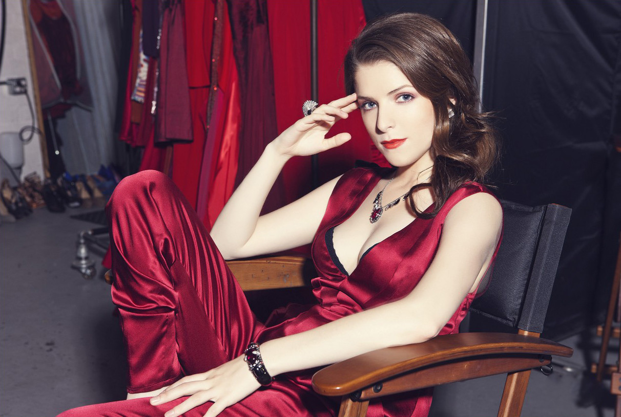 anna kendrick hot wallpaper in red dress icon magazine