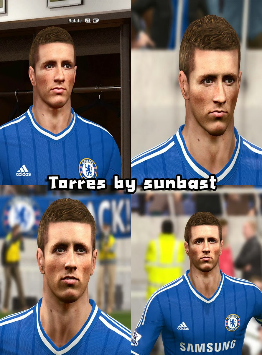 PES 2014 Fernando Torres Face by sunbast