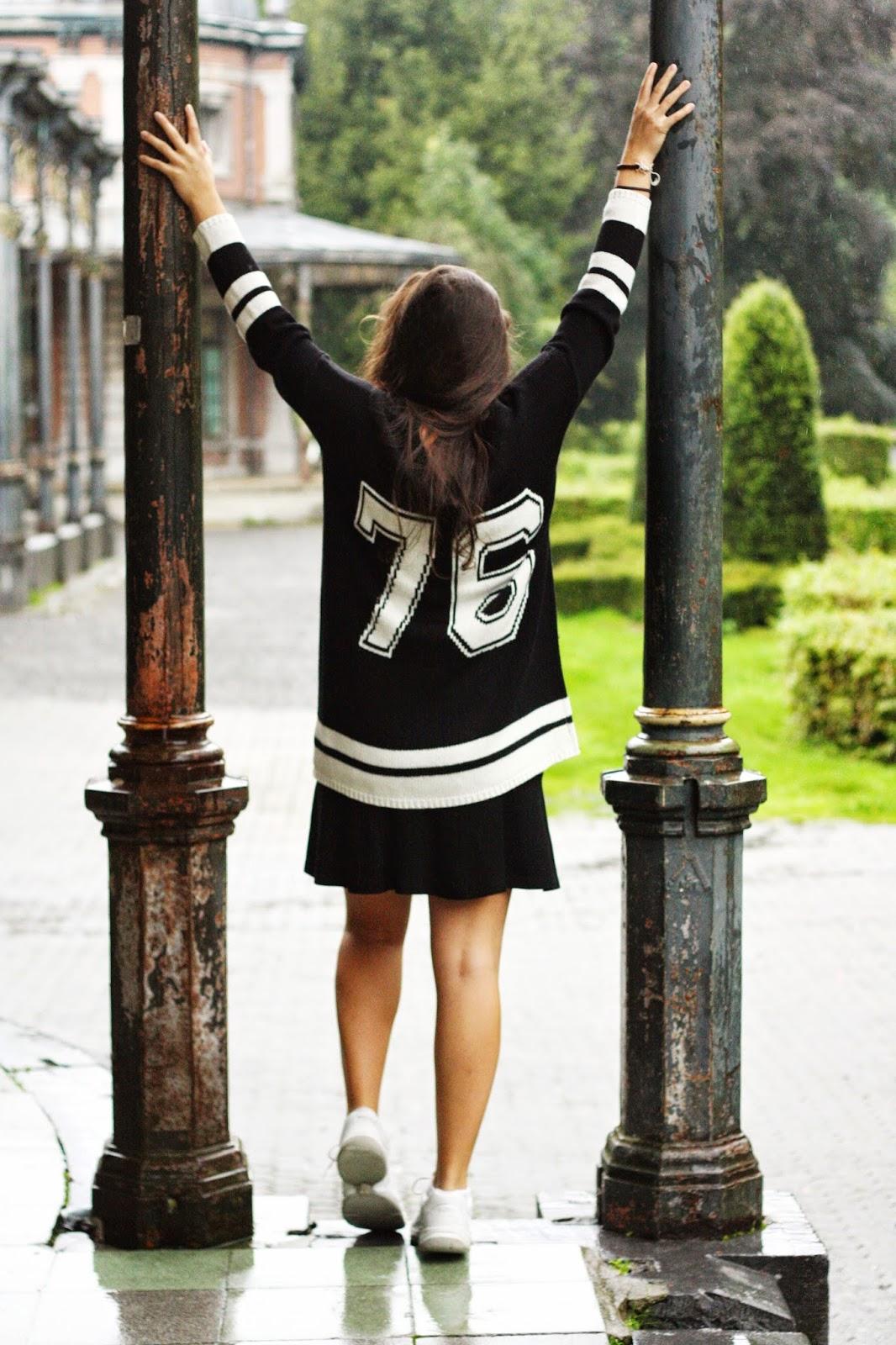 noir et blanc basket tenue sport sportive outfit