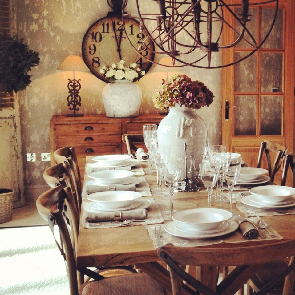 The Lady Loves Style Industrial Country Chic Dining