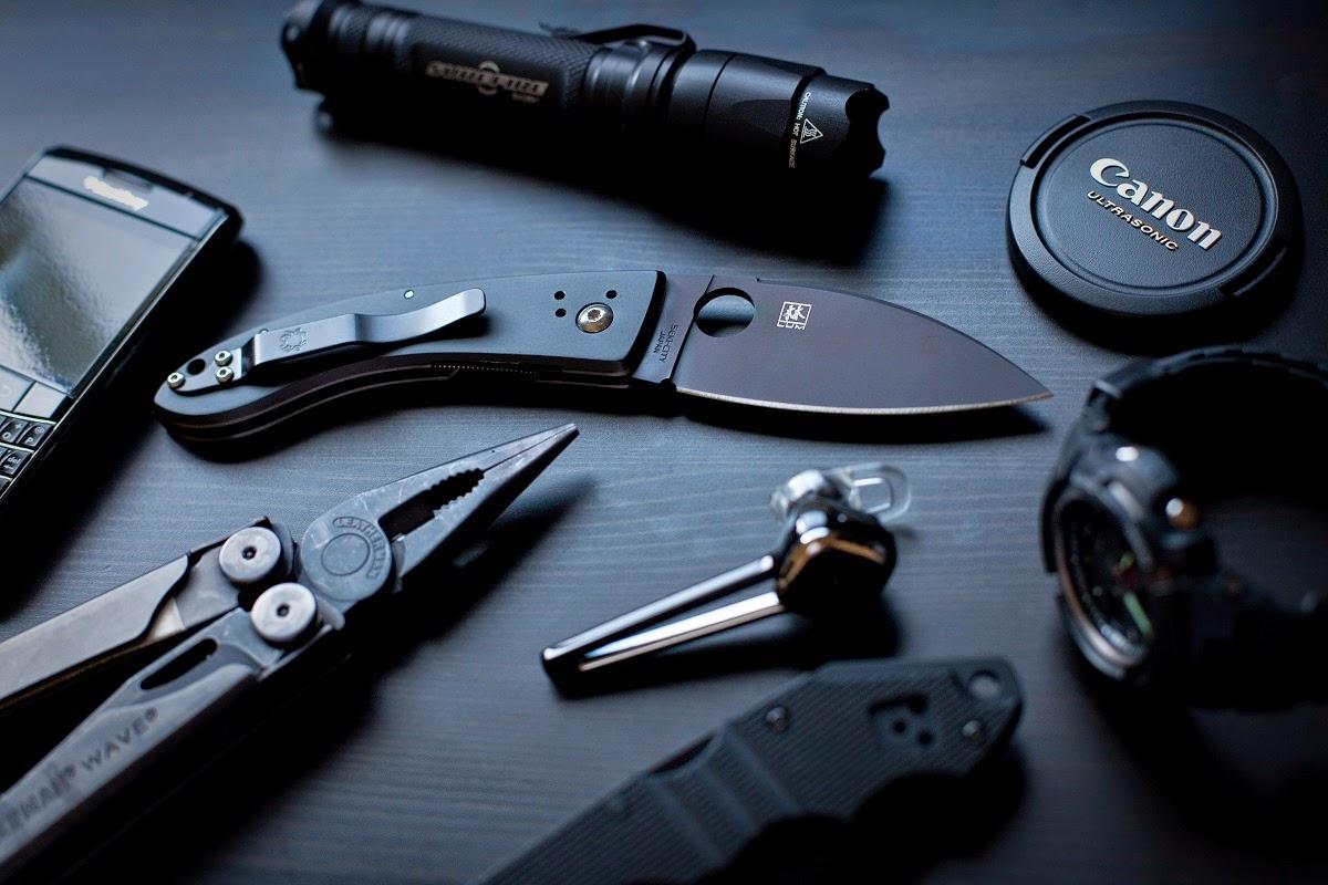 couteau EDC noir / Black - Liste de meilleurs couteaux EDC