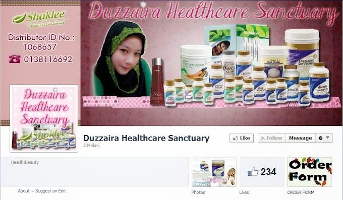 Tempahan Design Facebook Cover Photo : Duzzaira Healthcare Sanctuary
