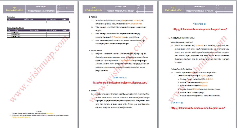 Contoh Manual Prosedur Kerja Guru Besar