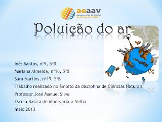 2º ceb, 2º ciclo, 5º ano, aeaav, Agrupamento de Escolas de Albergaria-a-Velha, ar, poluição do ar, qualidade do ar,