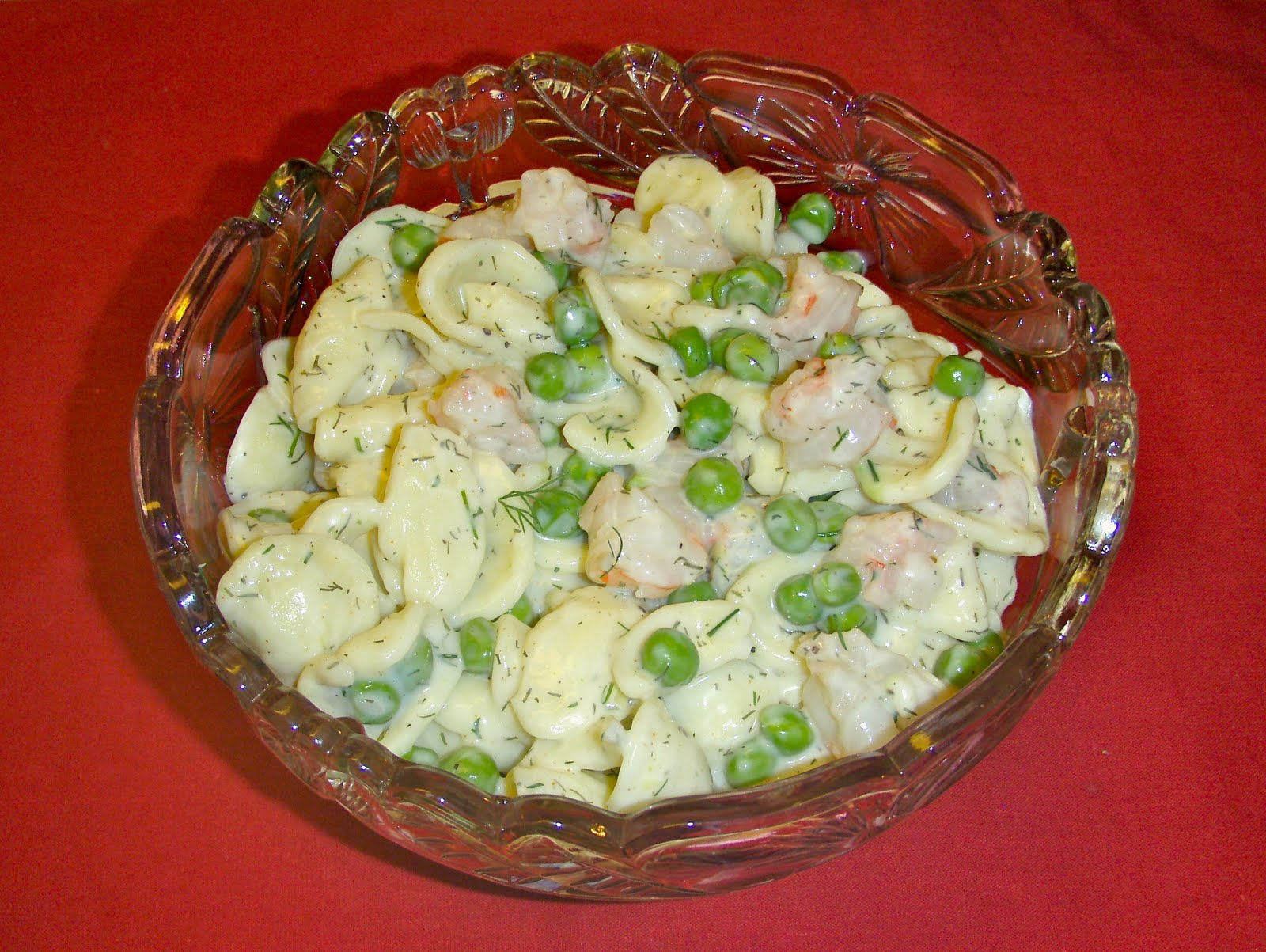 Low-Point Shrimp Orecchiette with Creamy Herb Dressing