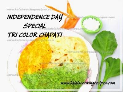 Tri Color Chapati