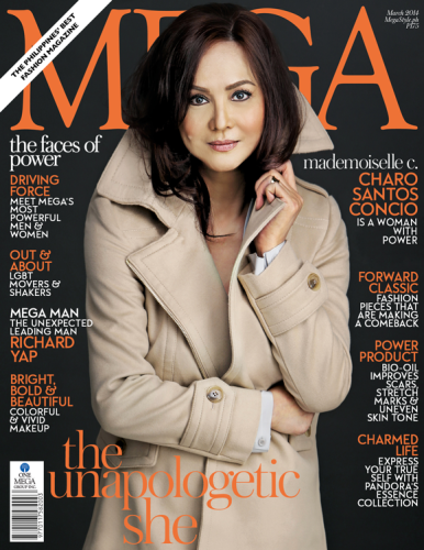 Charo Santos-Concio is a woman with power in the cover of Mega Magazine March 2014 issue