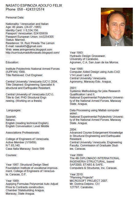 Ejemplos de curriculum vitae en ingles ingeniero / blog.shaadismart.com