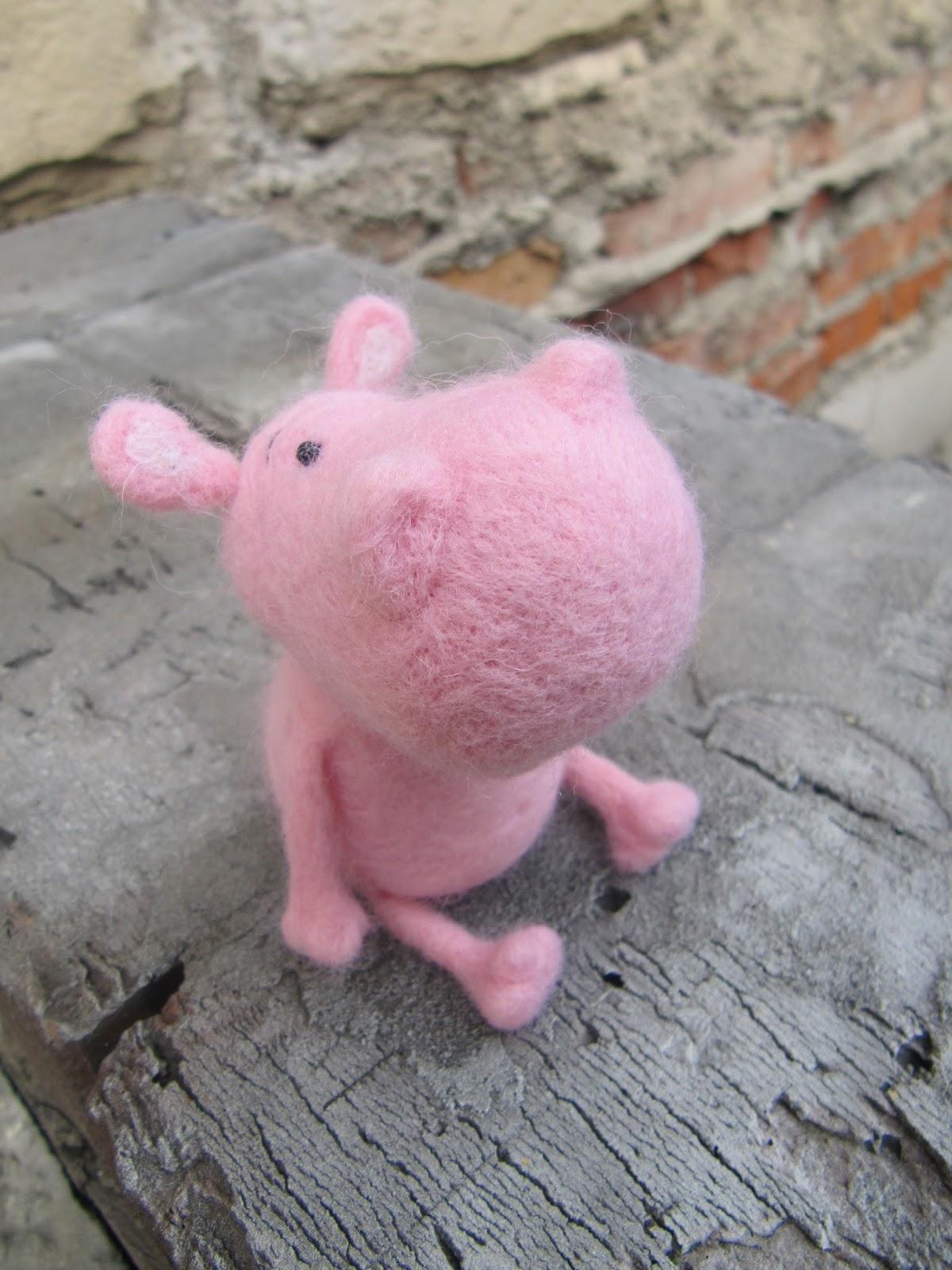 hippopotamus felting