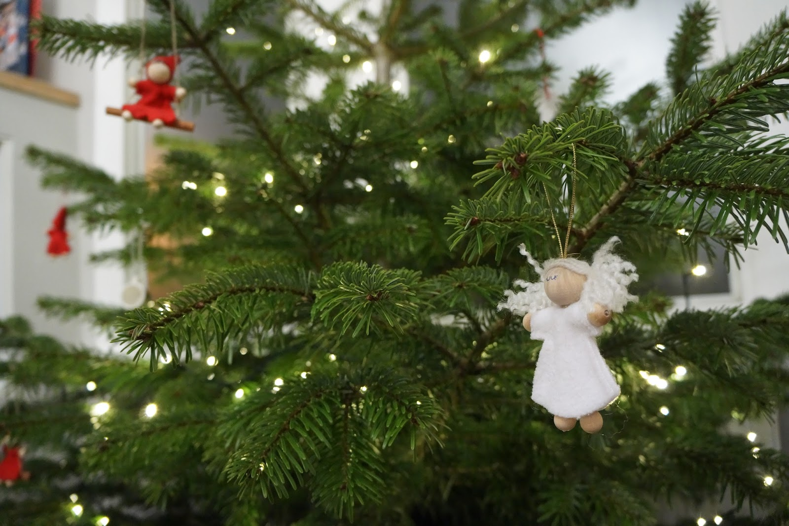 scandinavian finnish christmas tree decoration angel
