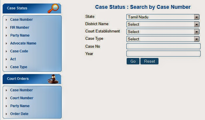 Madras High Court Case Status Information and Judgement