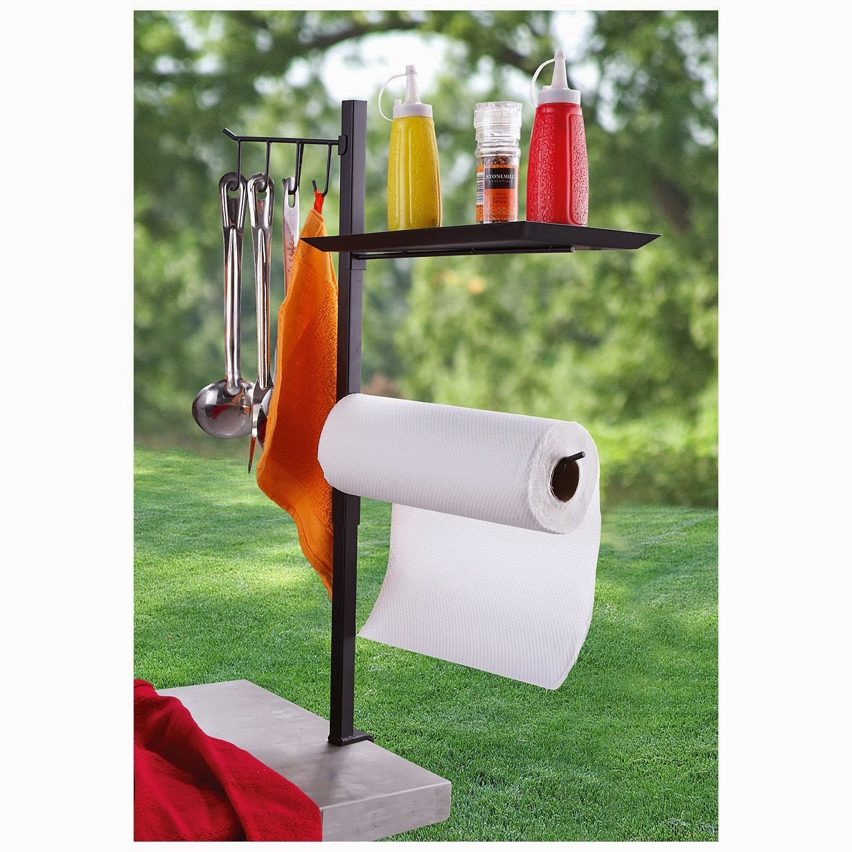Organized Gift Idea for Father's Day - Barbecue Accessory Organizer :: OrganizingMadeFun.com