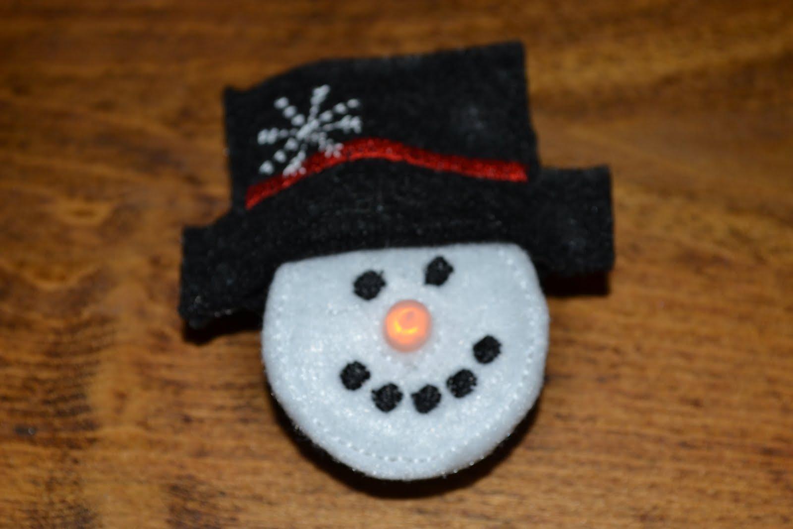 Lighted Snowman Pins