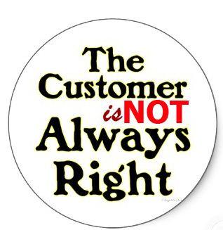 Pelanggan Tak Sentiasa Betul