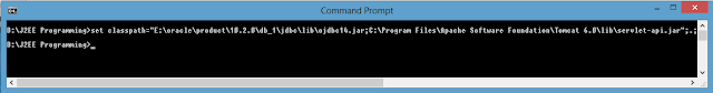 Set Classpath in Window 8 Command Prompt
