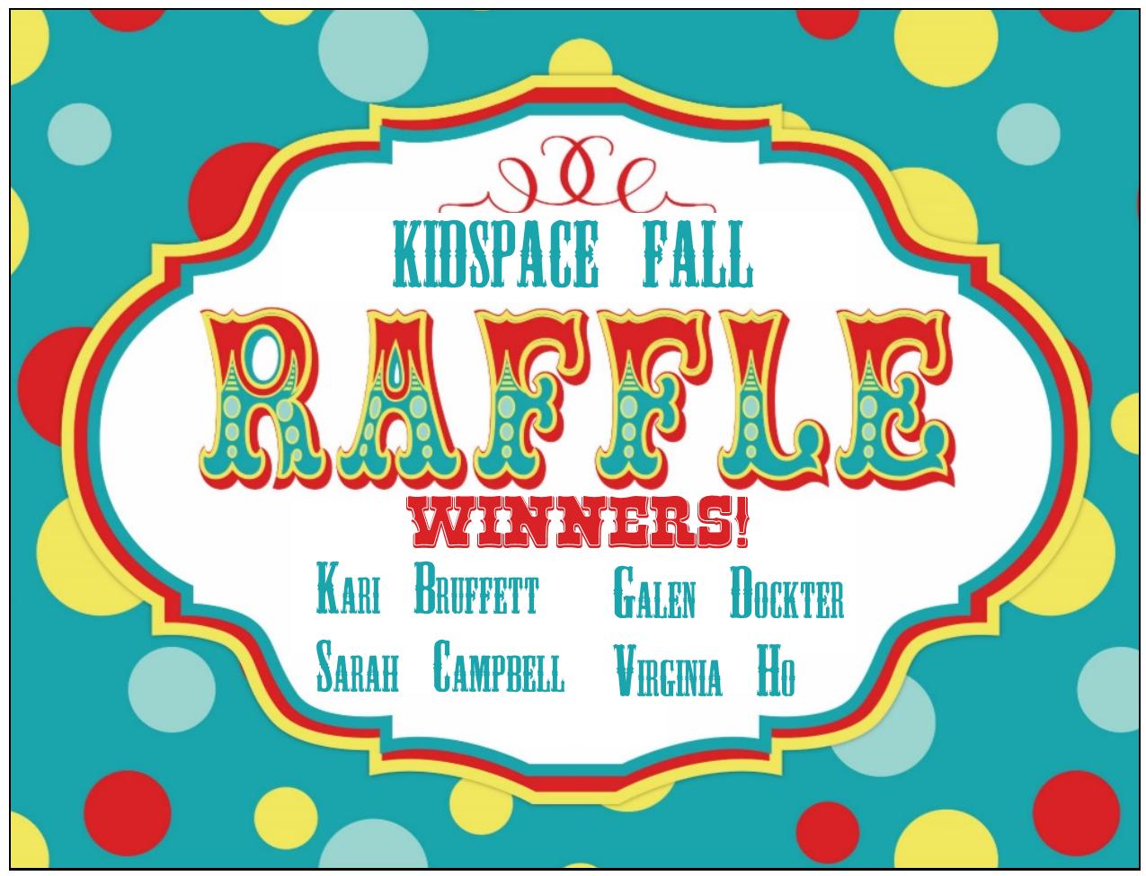 msc kidspace the winners of the fall kidspace volunteer raffle are drumroll please