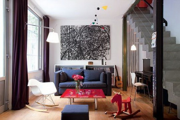 La conception int rieure d 39 un appartement familial paris - Idee deco salon petite surface ...
