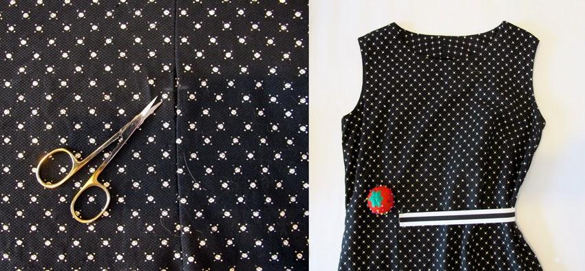 robe ajoutée avec un élastique