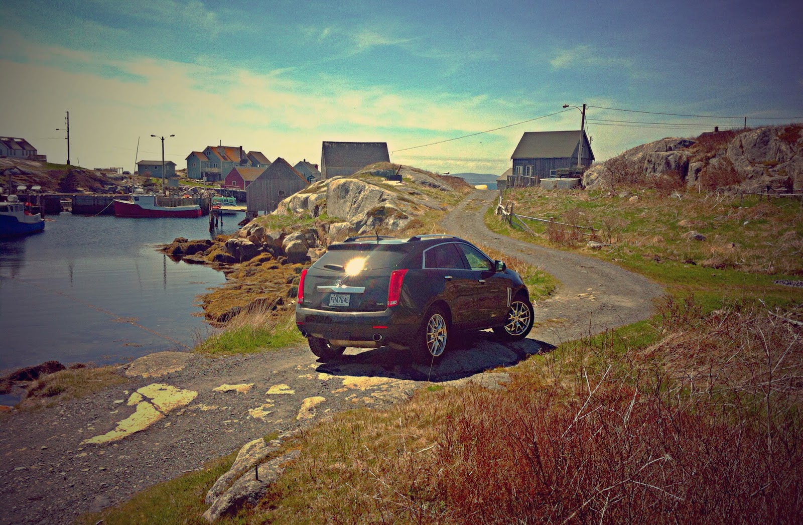 2014 Cadillac SRX Peggys Cove fishing village