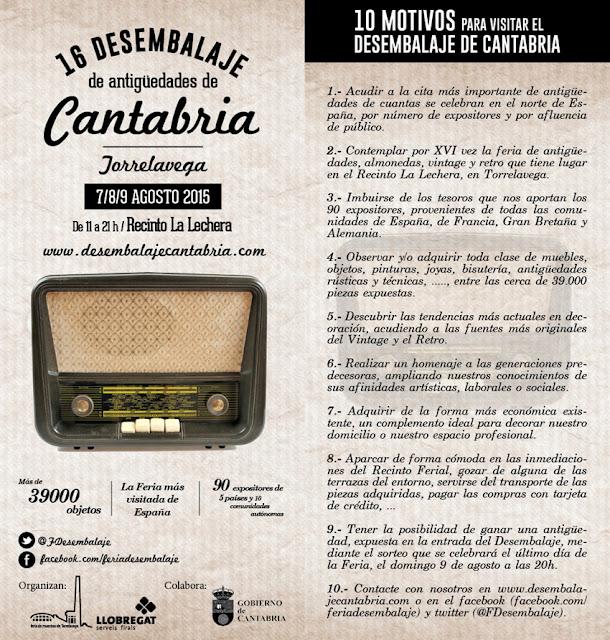 feria de desembalaje de antigüedades de Cantabria