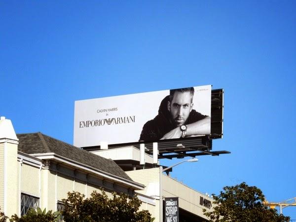 Calvin Harris Emporio Armani Spring 2015 billboard