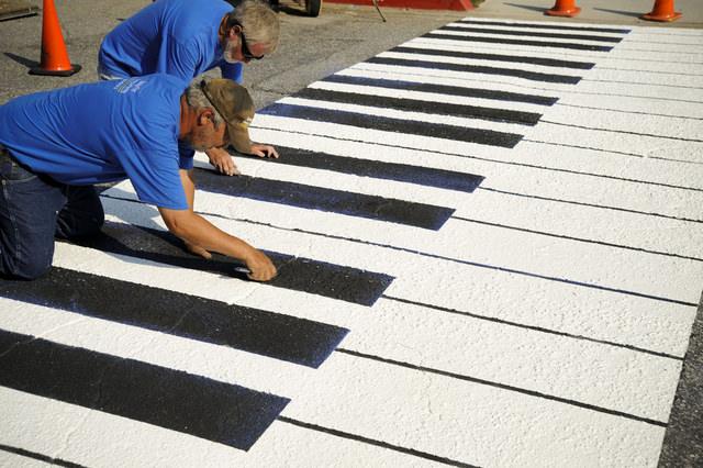 カリフォルニアにあるピアノ