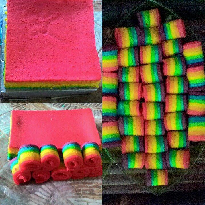 Tulisan Mitatami Cara Membuat Bolu Gulung Rainbow