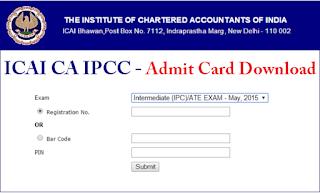 ICAI IPCC Admit Card
