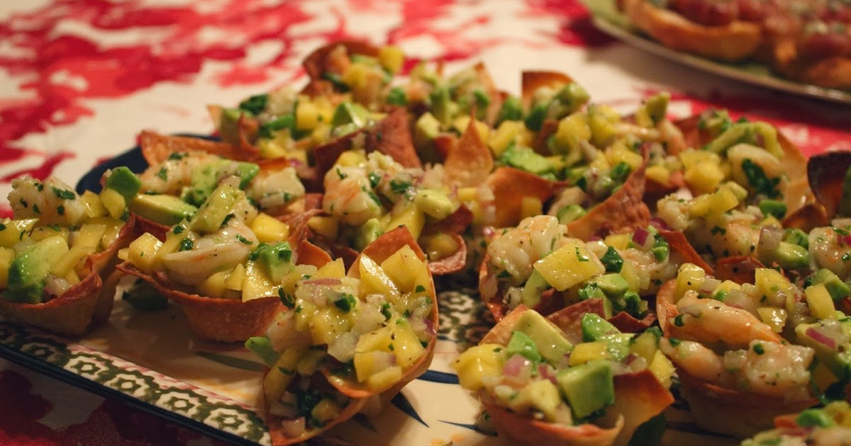 Sarah's Life in Food!: Mango, Shrimp, and Avocado Wonton Cups