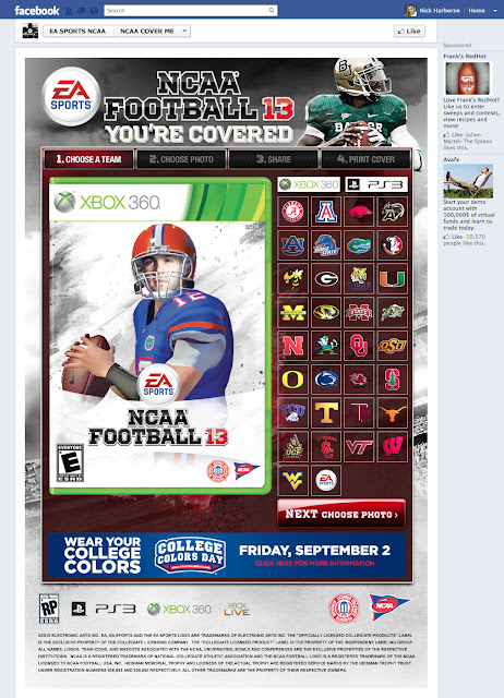 NCAA 13 You're Covered App #NCAA13