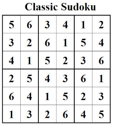 Classic Sudoku (Mini Sudoku Series #31) Solution