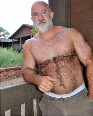 muscle daddies - hairy chest muscule dad - hot beard