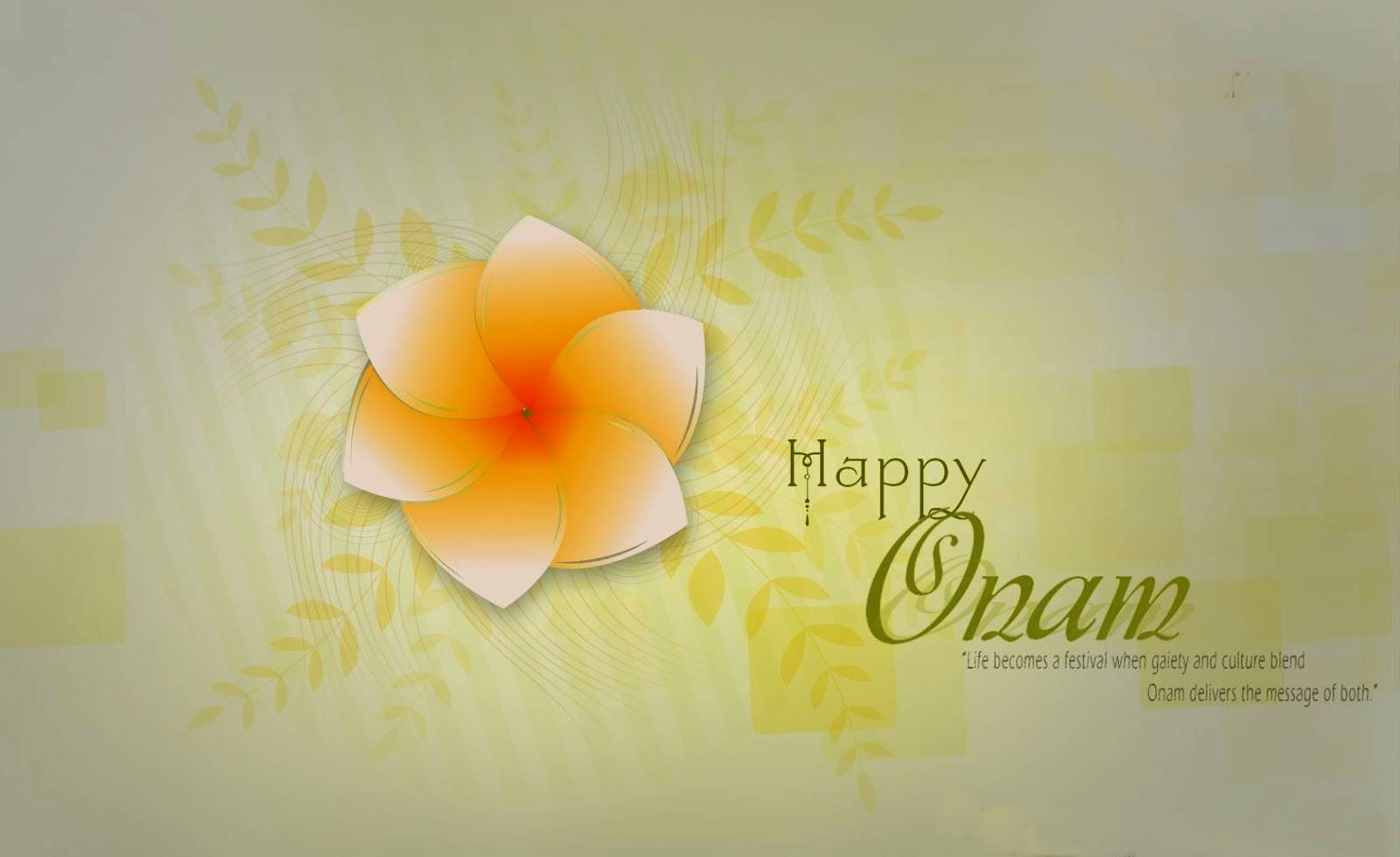 happy onam wallpaper with single flower
