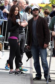 Megan Fox TMNT set image