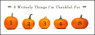 http://natashahanova.com/5-writerly-things-im-thankful-for-by-carrie-butler/