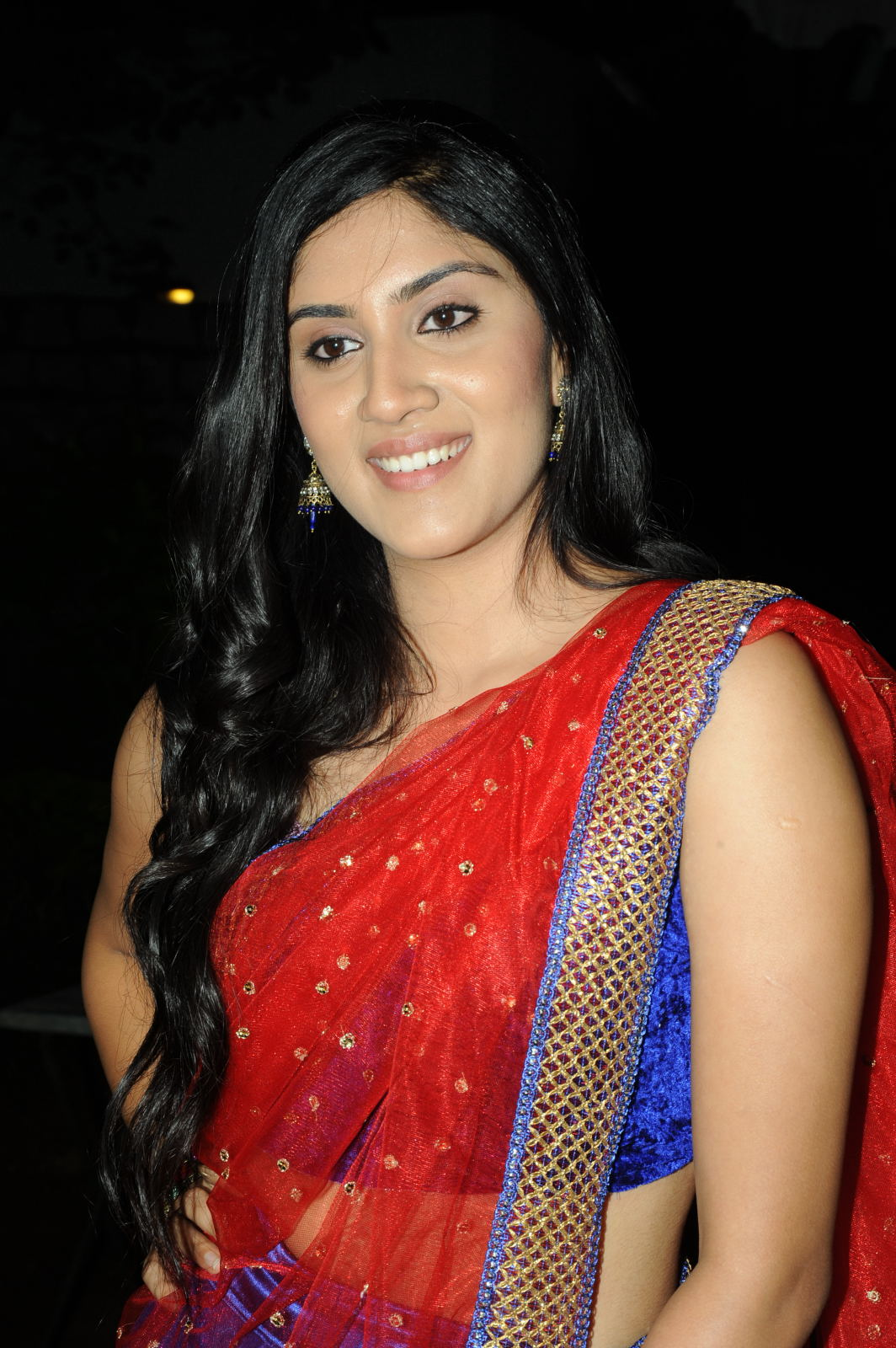 Dhanya Balakrishna in Indian Saree at Second Hand Audio Launch Event