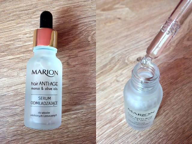 butelka z pipetką serum odmładzającego marion anti age do włosów dojrzałych osłabionych i zniszczonych
