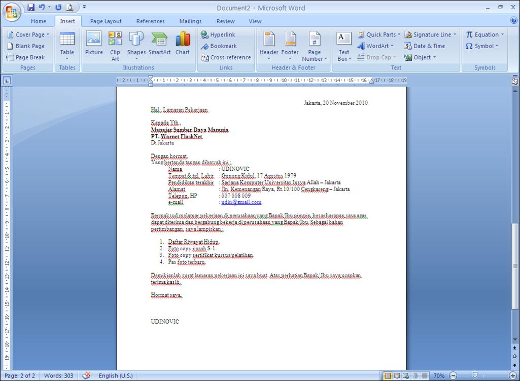 10 contoh surat lamaran kerja via email