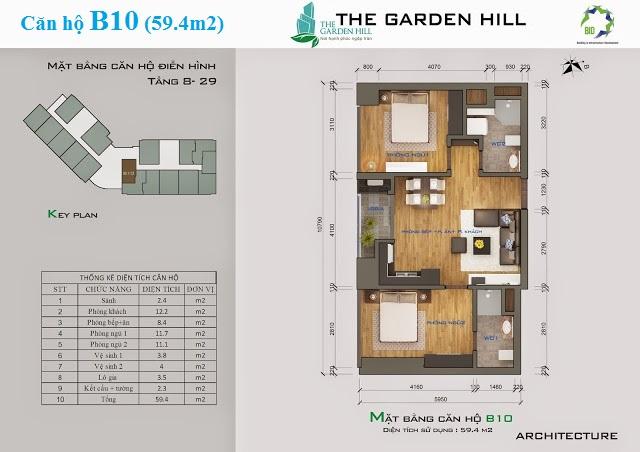 Thiết kế căn hộ B10 The Garden Hill