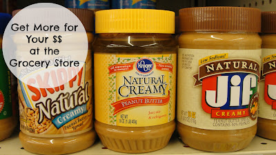 peanut butter on grocery shelf