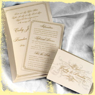 custom simple wedding invitation sets